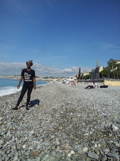 French Riviera rockin' my #Liberation shirt!